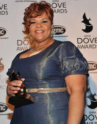 Tamela Mann at the 42nd Annual GMA Dove Awards.