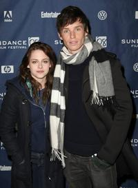 Kristen Stewart and Eddie Redmayne at the premiere of