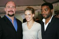 Jamie Bartlett, Hilary Swank and Chiwetel Ejiofor at the gala screening of