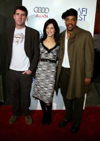 Paul Fitzgerald, Susan Floyd and Russell Hornsby at the screening of