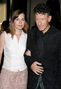 April Kimble and Lyle Lovett at the opening of