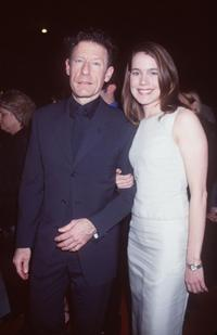 Lyle Lovett and April Kimble at the premiere of