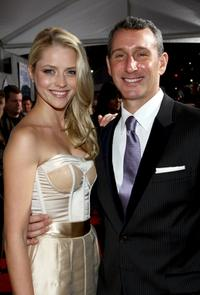 Teresa Palmer and director Adam Shankman at the Los Angeles premiere of