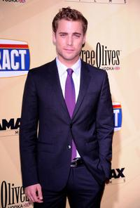 Dustin Milligan at the premiere of