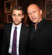 Dustin Milligan and Mike Judge at the after party of the premiere of