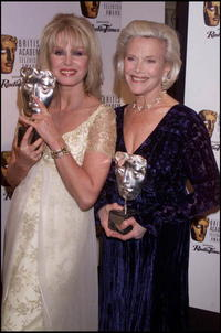 Joanna Lumley and American actress Honor Blackman at the BAFTA Television Awards.