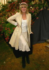 Joanna Lumley at the Chelsea Flower Show.