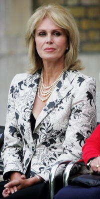 Joanna Lumley at the World War II veterans to commemorate the 60th anniversary of VJ Day.