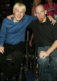 Andy Cohn and Mark Zupan at the premiere of