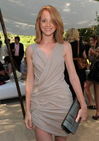 Jayma Mays at the Burberry Beauty Garden Tea event.