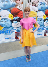 Jayma Mays at the California premiere of