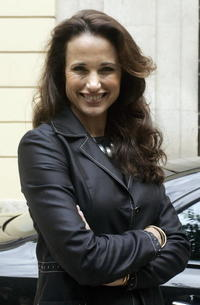 Andie MacDowell at the press conference in Valencia.