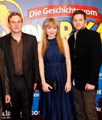 Sebastian Bezzel, Lisa Maria Potthoff and Peter Ketnath at the German premiere of