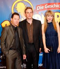 Juergen Tonkel, Sebastian Bezzel and Lisa Maria Potthoff at the German premiere of