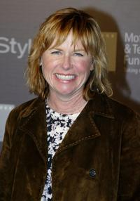 Amy Madigan at the opening of Jeff Bridges' Photography Exhibition Hosted by In Style.