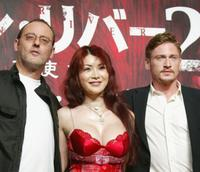 Jean Reno, Mika Kanou and Benoit Magimel at the press conference to promote