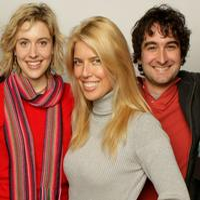 Greta Gerwig, Elise Muller and Jay Duplass at the 2008 Sundance Film Festival.