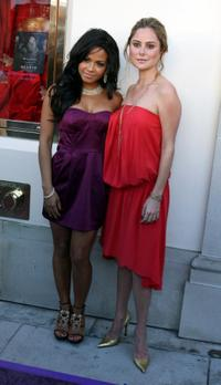 Christina Milian and Amanda Brooks at the Dame Elizabeth Taylor Promotes Her House Of Taylor Jewelry Inc.