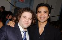 Dan Fogler and Jose Llama at the after party of the opening of