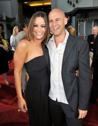 Katy Mixon and director Phil Traill at the premiere of