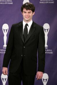 Bill Hader at the 22nd annual Rock And Roll Hall Of Fame Induction Ceremony.