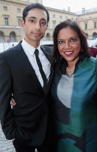 Rizwan Ahmed and Mira Nair at the Bernhard Wicki Award ceremony in Germany.