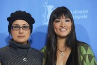 Pilar Guerrero and Magaly Solier at the photocall of
