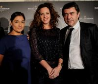 Magaly Solier, Claudia Llosa and Antonio Chavarrias at the press conference for