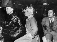 Marcello Mastroianni, Jean Marais and Maria Schell during the filming of
