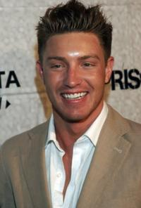 Lane Garrison at the end of season screening party of