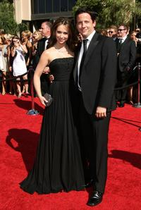 Jennifer Love Hewitt and Ross McCall at the 59th Annual Primetime Emmy Awards.
