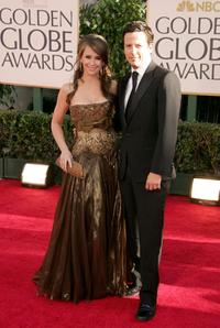 Jennifer Love Hewitt and Ross McCall at the 64th Annual Golden Globe Awards.