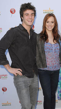 Beau Mirchoff and Andrea Bowen at the Celebrity Rally On ABC's Wisteria Lane in California.