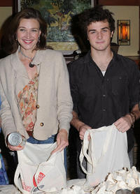 Brenda Strong and Beau Mirchoff at the Celebrity Rally On ABC's Wisteria Lane in California.
