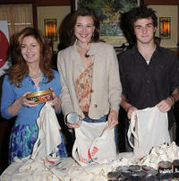 Dana Delany, Brenda Strong and Beau Mirchoff at the Celebrity Rally On ABC's Wisteria Lane in California.
