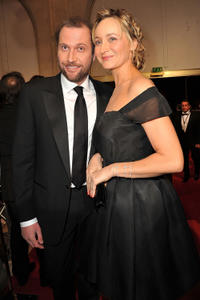 Francois Damiens and Julie Ferrier at the 36th Cesar Awards Ceremony in Paris.