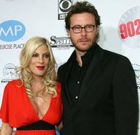Tori Spelling and Dean McDermott at the Beverly Hills 90210: The Complete First Season DVD party.