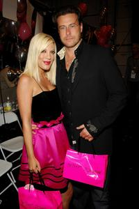 Tori Spelling and Dean McDermott at the Betsey Johnson 2008 fashion show during the Mercedes-Benz Fashion Week Spring 2008.