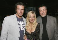 Dean McDermott, Tori Spelling and Chris Leitch at the screening party of