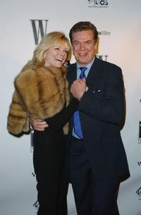 Christopher McDonald and Cheryl Tiegs at the W Magazine party honoring author John Livesay.