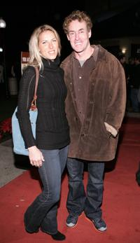 John C. McGinley and guest at the premiere of the