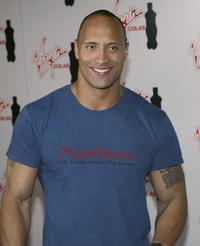 Dwayne Johnson at the Virgin Cola/MTV Movie Awards after party.