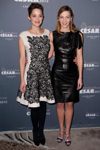 Marion Cotillard and Celine Sallette at the Chaumet's Cocktail Party for Cesar's Revelations 2012 in France.