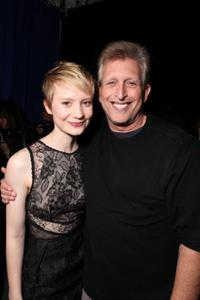 Mia Wasikowska and Producer Joe Roth at the Alice In Wonderland Ultimate Fan Event.