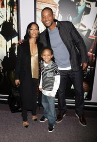 Jada Pinkett Smith, Jaden Smith and Will Smith at the BET studio following a taping of