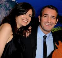 Louise Monot and Jean Dujardin at the Paris premiere of
