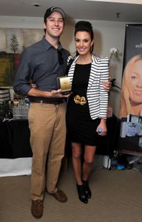 Armie Hammer Jr. and Elizabeth Chambers at the 2011 DPA Golden Globes Gift Suite in California.