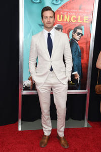 Armie Hammer at the New York premiere of