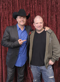 Musician/TV personality John Rich and Jim Norton at the Opie and Anthony Show in New York.