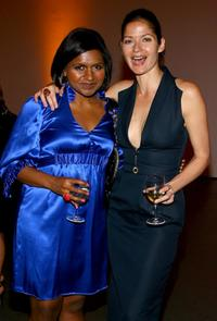 Mindy Kaling and Jill Hennessy at the celebration of network television by the William Morris Agency.